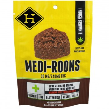 Medi-Roons Indica Brownie 240mg - Baked Good - Hashman Infused
