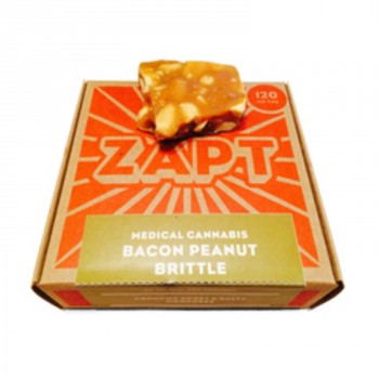 Bacon Peanut Brittle 120mg - Baked Good - Zapt Foods